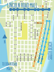 Lincoln Road Mall map